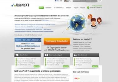 Usenext Webseite